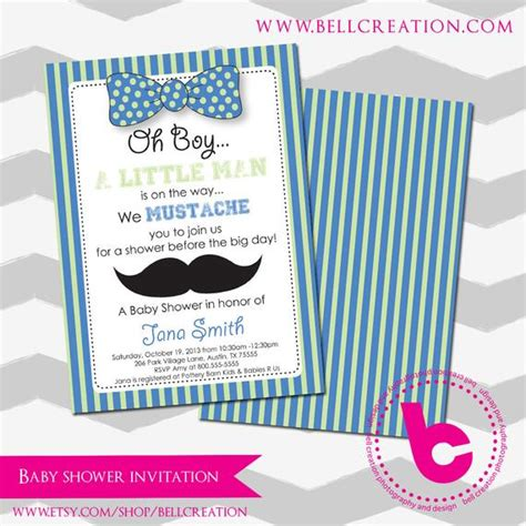 Mustache Baby Shower Invitation Template Mustache Baby Shower Invitations Free Templates
