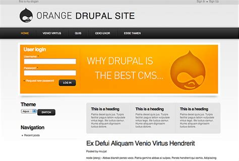 drupal themes orange ultimate roundup of free drupal themes