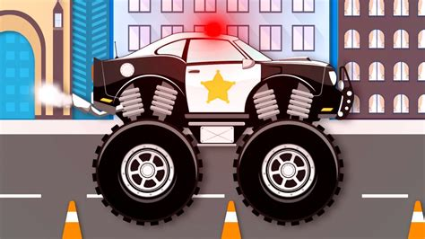 Monster Truck Stunt Chase Monster Truck Videos For Kids