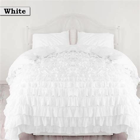White Ruffle Bedding Set Home Furniture Design White Ruffle Bedding