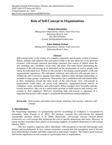 Self Concept Essay Sles by Self Concept Essay Pdf Self Concept Essay Exles Self Concept Research Among Orphans