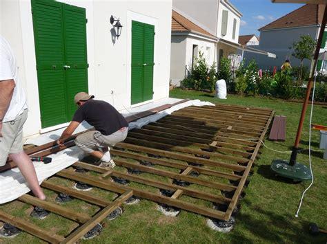 terrasse pvc impressionnant construire une terrasse en bois sur sol