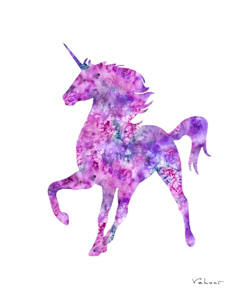 Unicorn watercolor print project mermaids store