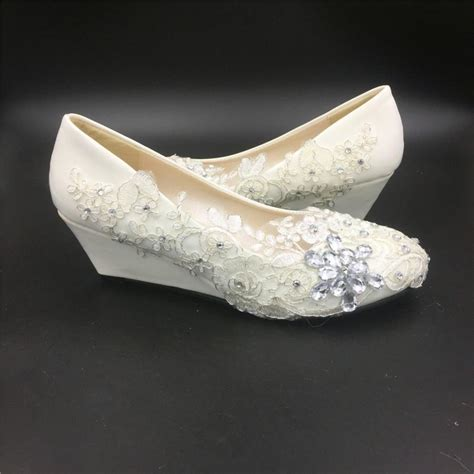 comfortable wedge bridal shoes ivory white wedding wedges women bridal wedges shoes
