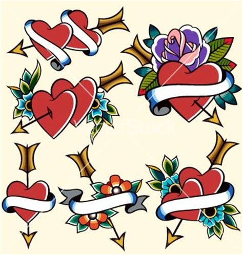 vintage heart tattoo designs 25 best ideas about traditional tattoos on