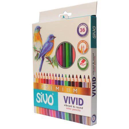 libro vivid colored pencil 2 pack sivo vivid color pencils box set of 36 72 total
