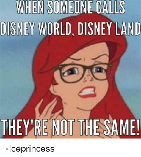 Disney World Memes - hen someone calls disney world disney land they re not the