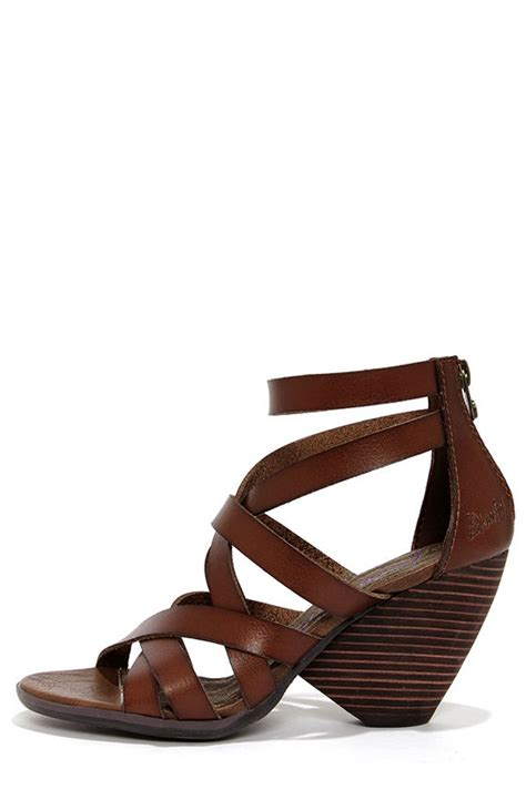 Octav Luxe Strappy Sandals Green brown shoes high heel sandals caged sandals 59 00