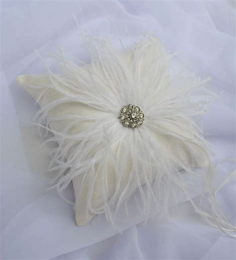 feather ring bearer pillow and basket weddingbee