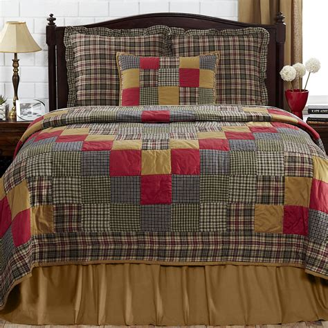 primitive bedding vhc king or queen country primitive emery quilt 2 shams