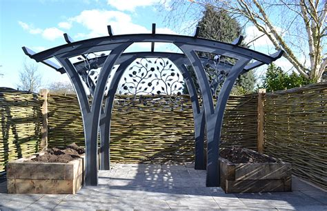 metal garden pergola pergolas bridges and bird baths