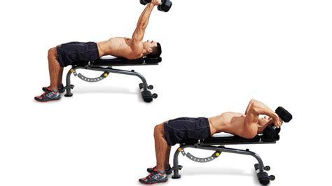 Abs Bench Exercises Lying Dumbbell Skull Crusher Men S Fitness