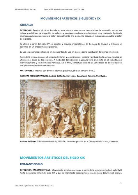 imagenes artisticas del siglo xix movimientos art 237 sticos s xix y xx