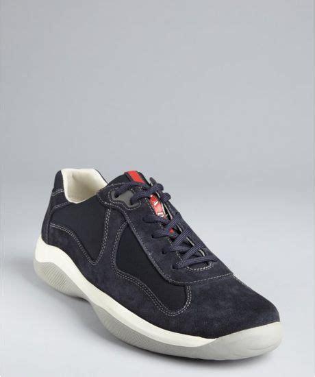prada sneakers blue prada sport blue suede and sneakers in blue for