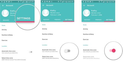 how to change location on android how to manage time zones and locations in fitbit for android android central