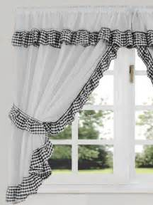 White Kitchen Curtains Gingham Check Black White Kitchen Curtain Curtains Uk