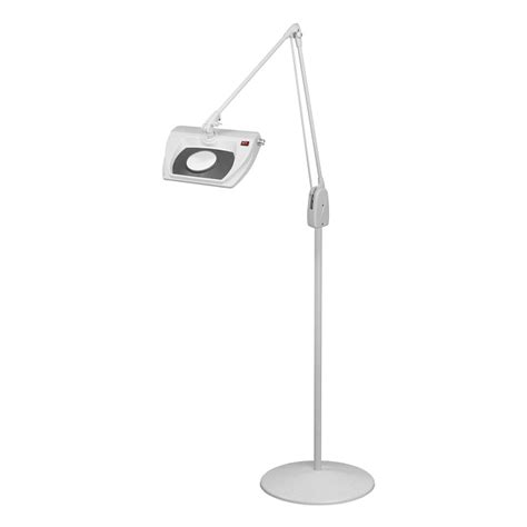 Magnifier Floor L by Dazor Led Stretchview Pedestal Floor Stand Magnifier