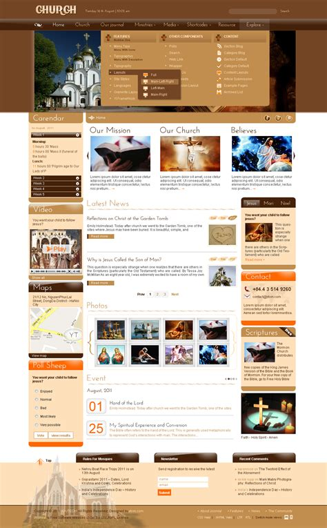 joomla church template sj church religious joomla template joomla themes on