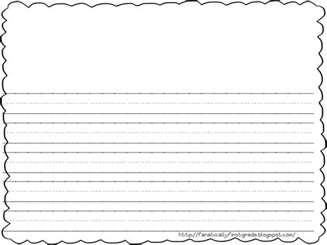 printable writing paper first grade 7 best images of first grade free printable lined paper