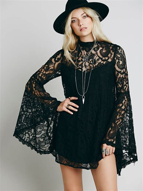 bell sleeve dress styles   people shop