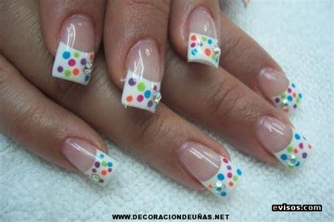 imagenes de uñas acrilicas de colores u 241 as acrilicas con lunares de colores decoraci 243 n de u 241 as