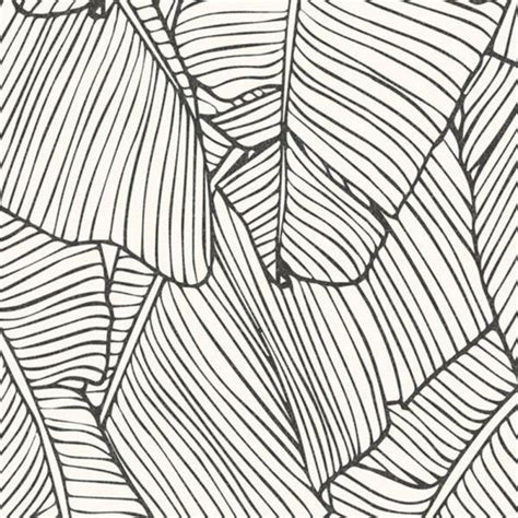 Walls Republic Leaf Outline Abstract White  Black