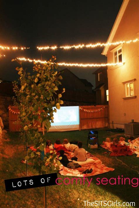 backyard movie night ideas backyard movie night diy party movie night ideas