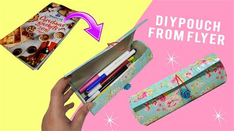 How To Make Pencil Out Of Paper - diy pouch diy pencil missdebbiediy