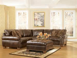 durablend traditional antique brown sectional sofa by