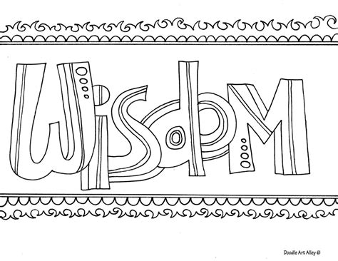 color of wisdom word coloring pages doodle alley