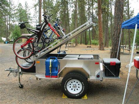 Trailer Top Bike Rack by Road Trailer With Bike Rack Trailer
