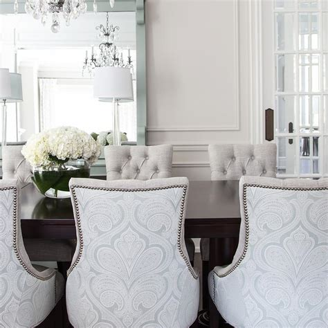 damask dining room chairs buffet ls design ideas