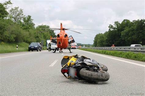 A7 Motorradunfall by Motorrad Unfall Auf Der A7 Bei Leubas