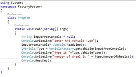 Pattern Programs In C Sharp | factory design pattern in c