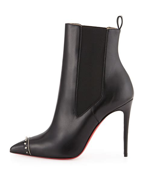 louboutin boots for christian louboutin banjo spiked leather boots in black lyst