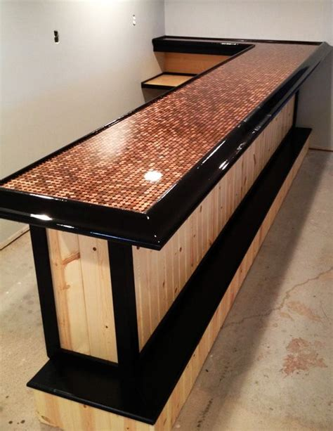 homemade bar tops best 25 penny countertop ideas on pinterest penny table