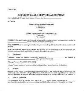 security services contract template contract agreement 9 free documents in pdf word
