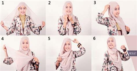 cara pake jilbab praktis dan cepat cara memakai jilbab segi empat praktis dan cepat