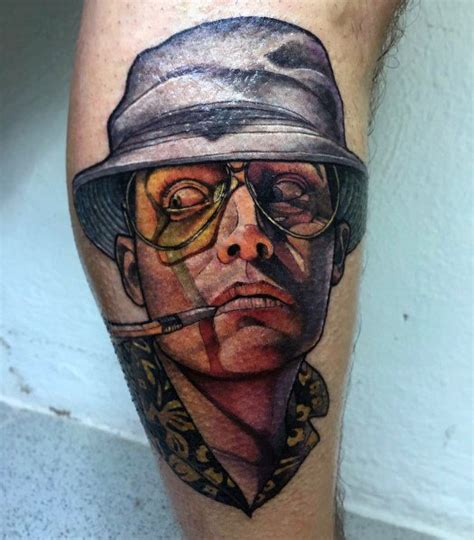 hunter s thompson tattoo 70 s thompson designs for fear and