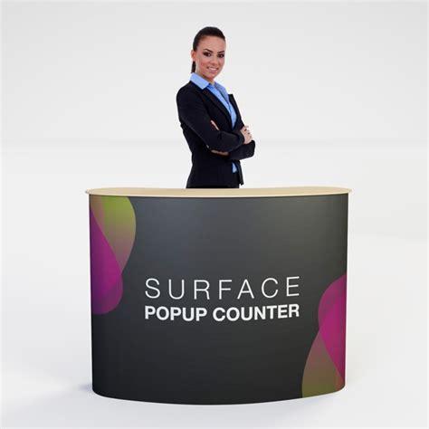 Pop Up Counter Pop Up Table Event Desk Belum Termasuk Printing portable pop up podium counter desk range with fast delivery
