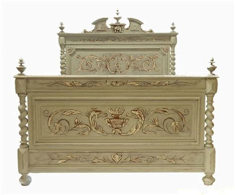 go to bed in french c19 french painted double bed base ready to go in from tryst d amour