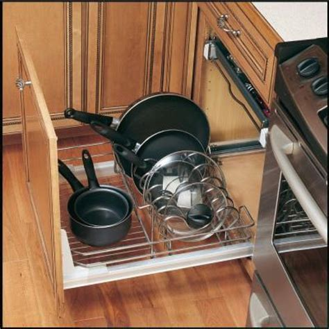Rev A Shelf Pots And Pans rev a shelf premiere 24 in cookware organizer 5389 21cr the home depot