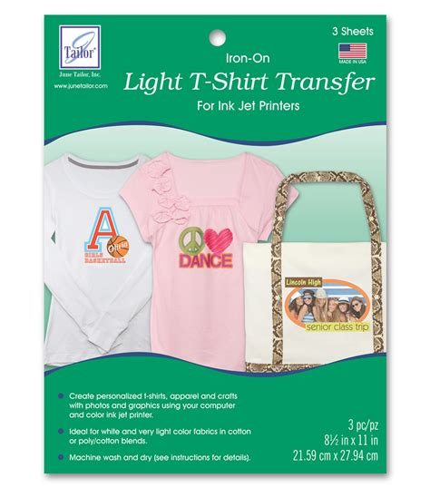 How To Make T Shirt Transfer Paper - june tailor light t shirt transfer paper 3 pkg jo