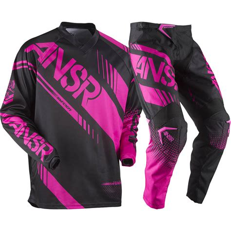 pink motocross gear answer 2017 mx new syncron jersey pants pink black womens
