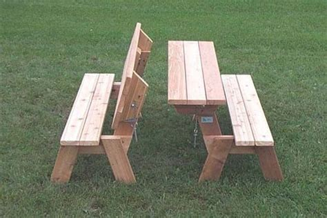 folding bench picnic table plans woodworkingbench diy