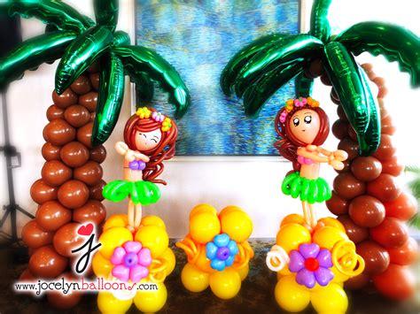 Hawaiian Balloon Decorations by Jocelyn Ng Professional Balloon Artist Balloon