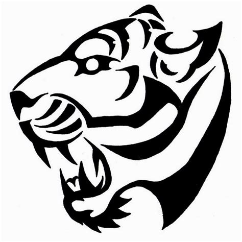 simple tattoo black and white easy black and white tiger tattoo designs tigers head