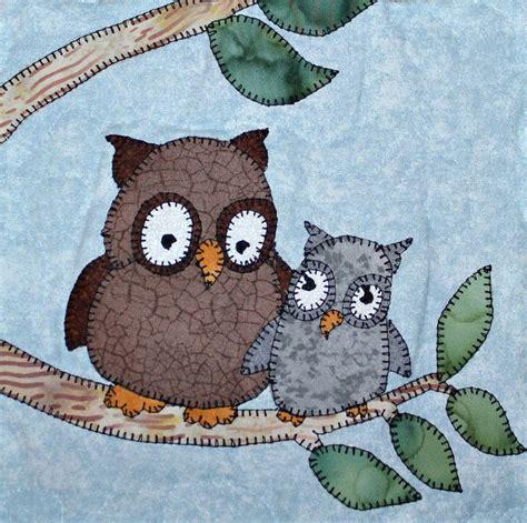 Owl Patchwork Patterns - owl pdf applique quilt block pattern american