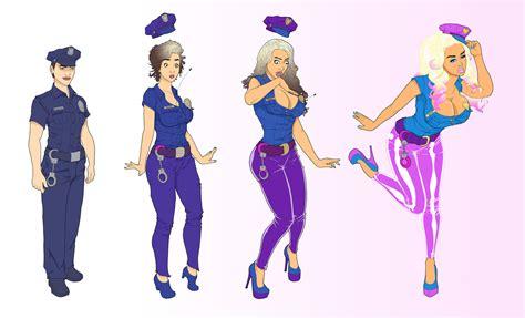 Tf Bimbo Transformation Comics | cop bimbo tf color by banedearg on deviantart