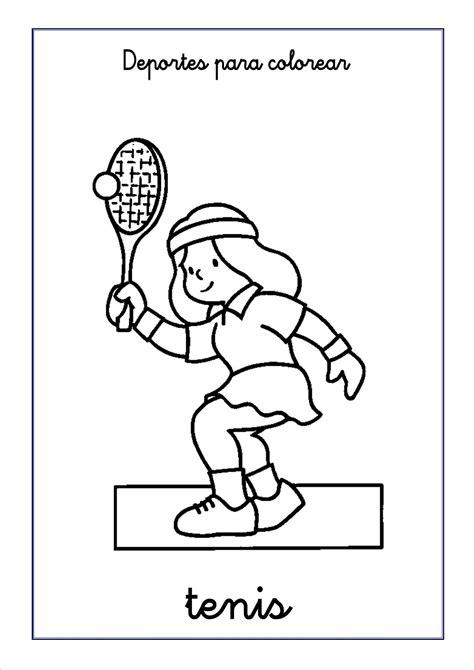 imagenes niños haciendo deporte para colorear tenis para colorear escuela en la nube recursos para